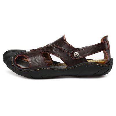Men Leisure Summer Breathable Anti-slip Leather SandalsMens Sandals<br>Men Leisure Summer Breathable Anti-slip Leather Sandals<br><br>Closure Type: Slip-On<br>Contents: 1 x Pair of Shoes, 1 x Box<br>Function: Slip Resistant<br>Materials: Leather, Rubber<br>Occasion: Beach, Shopping, Tea Party, Holiday, Daily, Casual<br>Outsole Material: Rubber<br>Package Size ( L x W x H ): 30.00 x 20.00 x 10.00 cm / 11.81 x 7.87 x 3.94 inches<br>Package weight: 0.8500 kg<br>Product weight: 0.7000 kg<br>Style: Leisure, Fashion, Comfortable<br>Type: Sandals<br>Upper Material: Leather
