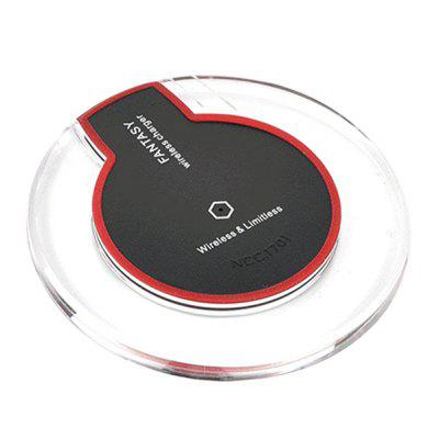 Qi Standard Crystal Shock-proof Fast Wireless Charger qi wireless charger charging receiver transparent cover