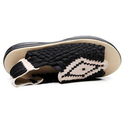 Men Leisure Breathable Anti-slip Hand WovenSandalsMens Sandals<br>Men Leisure Breathable Anti-slip Hand WovenSandals<br><br>Closure Type: Slip-On<br>Contents: 1 x Pair of Shoes, 1 x Box<br>Function: Slip Resistant<br>Materials: Mesh Fabric, Rubber<br>Occasion: Beach, Shopping, Holiday, Daily, Casual<br>Outsole Material: Rubber<br>Package Size ( L x W x H ): 31.00 x 21.00 x 13.00 cm / 12.2 x 8.27 x 5.12 inches<br>Package weight: 0.8200 kg<br>Product weight: 0.6800 kg<br>Style: Leisure, Fashion, Comfortable<br>Type: Sandals<br>Upper Material: Mesh Fabric