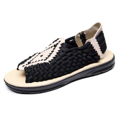 Men Leisure Breathable Anti-slip Hand Woven Sandals