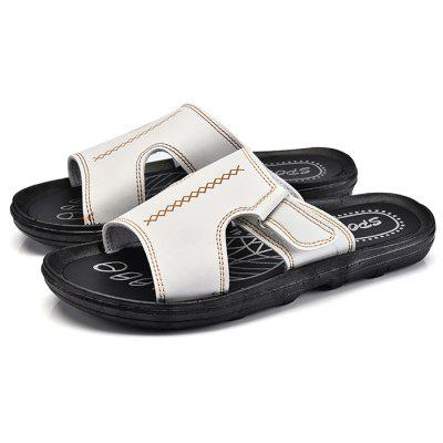 Men Trendy Street Summer Anti-slip PU SlipperMens Slippers<br>Men Trendy Street Summer Anti-slip PU Slipper<br><br>Closure Type: Slip-On<br>Contents: 1 x Pair of Shoes, 1 x Box<br>Function: Slip Resistant<br>Materials: PU, Rubber<br>Occasion: Beach, Shopping, Holiday, Daily, Casual<br>Outsole Material: Rubber<br>Package Size ( L x W x H ): 32.00 x 21.00 x 12.00 cm / 12.6 x 8.27 x 4.72 inches<br>Package weight: 0.7100 kg<br>Product weight: 0.5600 kg<br>Seasons: Autumn,Spring,Summer<br>Style: Leisure, Fashion, Comfortable<br>Type: Slippers<br>Upper Material: PU