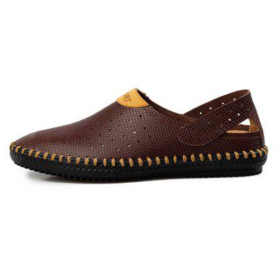 Men Leisure Breathable Anti-slip Leather SandalsMens Sandals<br>Men Leisure Breathable Anti-slip Leather Sandals<br><br>Closure Type: Slip-On<br>Contents: 1 x Pair of Shoes, 1 x Box<br>Function: Slip Resistant<br>Materials: Leather, Rubber<br>Occasion: Beach, Shopping, Holiday, Daily, Casual<br>Outsole Material: Rubber<br>Package Size ( L x W x H ): 33.00 x 24.00 x 13.00 cm / 12.99 x 9.45 x 5.12 inches<br>Package weight: 0.8000 kg<br>Product weight: 0.6000 kg<br>Seasons: Autumn,Spring,Summer<br>Style: Leisure, Fashion, Comfortable<br>Toe Shape: Round Toe<br>Type: Sandals<br>Upper Material: Leather