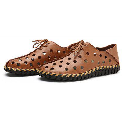 Men Trendy Hollow Dual-use Leather Casual ShoesMen's Oxford<br>Men Trendy Hollow Dual-use Leather Casual Shoes<br><br>Contents: 1 x Pair of Shoes, 1 x Box<br>Function: Slip Resistant<br>Materials: Rubber, Leather<br>Occasion: Shopping, Holiday, Daily, Casual, Beach<br>Outsole Material: Rubber<br>Package Size ( L x W x H ): 33.00 x 24.00 x 13.00 cm / 12.99 x 9.45 x 5.12 inches<br>Package weight: 0.8000 kg<br>Product weight: 0.6000 kg<br>Seasons: Summer<br>Style: Leisure, Fashion, Comfortable<br>Toe Shape: Round Toe<br>Type: Casual Leather Shoes<br>Upper Material: Leather
