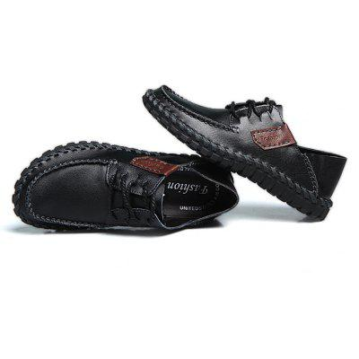 Men Trendy Anti-slip Leather Casual ShoesMen's Oxford<br>Men Trendy Anti-slip Leather Casual Shoes<br><br>Contents: 1 x Pair of Shoes, 1 x Box<br>Function: Slip Resistant<br>Materials: Rubber, Leather<br>Occasion: Shopping, Holiday, Daily, Casual<br>Outsole Material: Rubber<br>Package Size ( L x W x H ): 33.00 x 24.00 x 13.00 cm / 12.99 x 9.45 x 5.12 inches<br>Package weight: 0.9000 kg<br>Product weight: 0.7000 kg<br>Seasons: Summer<br>Style: Leisure, Fashion, Comfortable<br>Toe Shape: Round Toe<br>Type: Casual Leather Shoes<br>Upper Material: Leather