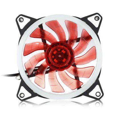 12V Postposition Shiny Double Blades Cooling Fan for Computer Case