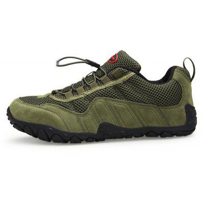 Men Outdoor Breathable Anti-slipHiking Athletic ShoesMen's Sneakers<br>Men Outdoor Breathable Anti-slipHiking Athletic Shoes<br><br>Closure Type: Elastic band<br>Contents: 1 x Pair of Shoes, 1 x Box<br>Function: Slip Resistant<br>Materials: Suede, Mesh Fabric, Rubber<br>Occasion: Sports, Running, Riding, Basketball, Shopping, Daily, Holiday<br>Outsole Material: Rubber<br>Package Size ( L x W x H ): 33.00 x 24.00 x 13.00 cm / 12.99 x 9.45 x 5.12 inches<br>Package weight: 0.8000 kg<br>Product weight: 0.6000 kg<br>Seasons: Autumn,Spring,Summer<br>Style: Leisure, Fashion, Comfortable<br>Toe Shape: Round Toe<br>Type: Sports Shoes<br>Upper Material: Mesh Fabric,Suede