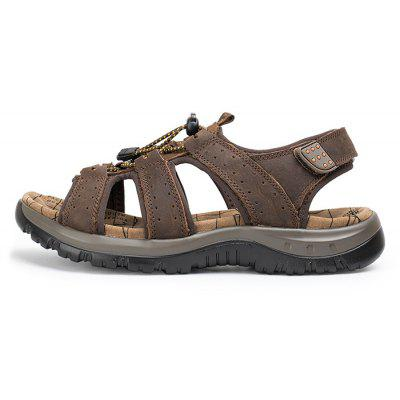 Men Leisure Adjustable Anti-slip Leather SandalsMens Sandals<br>Men Leisure Adjustable Anti-slip Leather Sandals<br><br>Closure Type: Hook / Loop, Elastic band<br>Contents: 1 x Pair of Shoes, 1 x Box<br>Function: Slip Resistant<br>Materials: Leather, PU<br>Occasion: Casual, Daily, Holiday, Shopping, Beach<br>Outsole Material: PU<br>Package Size ( L x W x H ): 32.00 x 21.00 x 13.00 cm / 12.6 x 8.27 x 5.12 inches<br>Package weight: 0.8000 kg<br>Product weight: 0.6500 kg<br>Seasons: Summer<br>Style: Leisure, Fashion, Comfortable<br>Type: Sandals<br>Upper Material: Leather