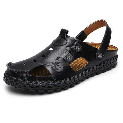 Men Leisure Anti-slip Dual-use Leather Sandals