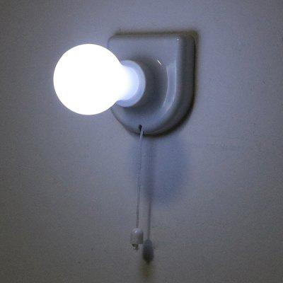 Pull Chain LED Lamp for Cabinet Outdoor Camping Tent 2PCS