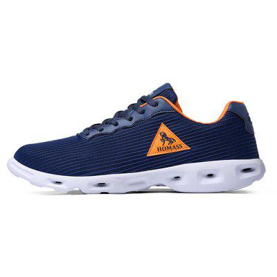 HOMASS BreathableLightweight Athletic Shoes for CoupleMen's Sneakers<br>HOMASS BreathableLightweight Athletic Shoes for Couple<br><br>Brand: HOMASS<br>Closure Type: Lace-Up<br>Contents: 1 x Pair of Shoes, 1 x Box<br>Function: Slip Resistant<br>Materials: Mesh Fabric, PU, MD<br>Occasion: Sports, Shopping, Running, Riding, Holiday, Daily, Casual<br>Outsole Material: MD,PU<br>Package Size ( L x W x H ): 30.00 x 20.00 x 10.00 cm / 11.81 x 7.87 x 3.94 inches<br>Package weight: 0.8500 kg<br>Product weight: 0.7000 kg<br>Seasons: Autumn,Spring,Summer<br>Style: Fashion, Casual, Comfortable<br>Toe Shape: Round Toe<br>Type: Sports Shoes<br>Upper Material: Mesh Fabric