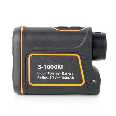 RZ1000S 1000m 8X Monocular Telescope RangefinderLaser Rangefinder, Electronic Distance Meter<br>RZ1000S 1000m 8X Monocular Telescope Rangefinder<br><br>Battery Capacity: 750mAh<br>Battery Type: Li-ion polymer battery<br>Color: Black<br>Detection Range (Meter): 1000<br>Magnification: 8X<br>Measuring Unit: Meter,Yard<br>Model: RZ1000S<br>Package Contents: 1 x Rangefinder, 1 x English User Manual, 1 x Pouch, 1 x Hand Strap, 1 x USB Cable , 1 x Cleaning Cloth<br>Package size (L x W x H): 17.50 x 13.50 x 6.50 cm / 6.89 x 5.31 x 2.56 inches<br>Package weight: 0.3730 kg<br>Product size (L x W x H): 10.40 x 7.65 x 4.10 cm / 4.09 x 3.01 x 1.61 inches<br>Product weight: 0.1970 kg