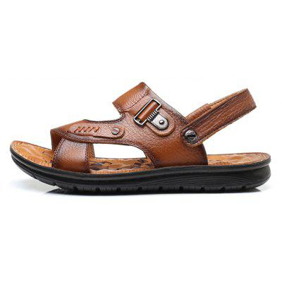 Men Stylish Breathable Dual-use Leather SandalsMens Sandals<br>Men Stylish Breathable Dual-use Leather Sandals<br><br>Contents: 1 x Pair of Shoes, 1 x Box<br>Function: Slip Resistant<br>Materials: Rubber, Leather<br>Occasion: Shopping, Holiday, Daily, Casual, Beach<br>Outsole Material: Rubber<br>Package Size ( L x W x H ): 30.00 x 20.00 x 10.00 cm / 11.81 x 7.87 x 3.94 inches<br>Package weight: 0.8500 kg<br>Product weight: 0.7000 kg<br>Seasons: Summer<br>Style: Leisure, Fashion, Comfortable<br>Type: Sandals<br>Upper Material: Leather