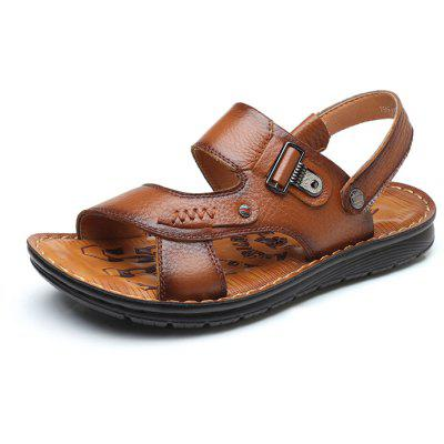 Men Stylish Breathable Dual-use Leather Sandals