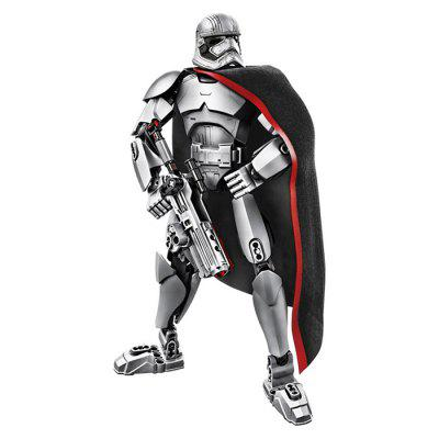 Metal Steel Fighter Hero Building Blocks Model Toy - GRAY CLOUD