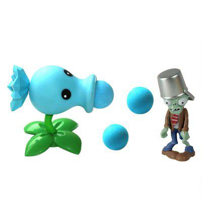 Ice Pea Shooter Plant Fighters Ghost Doll Model for Kids