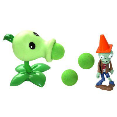 WUIBN Green Pea Shooter Plant Fighters Ghost Model for Kids