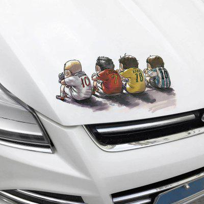 Car DIY Removable Soccer Player Waterproof Sticker Decal
