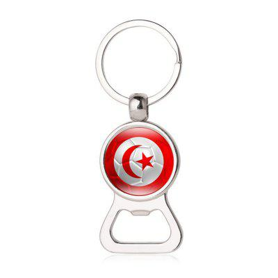 Panama Peru Flag Design 2-in-1 Bottle Opener Keychain