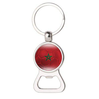 Korea Russia Flag Design 2-in-1 Bottle Opener Keychain
