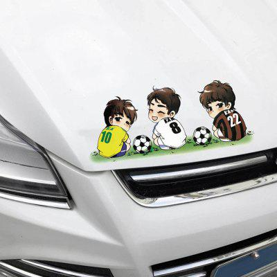 Car DIY Removable Soccer Player Style Waterproof Sticker