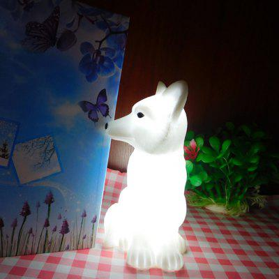 White Fox Shape Night Light