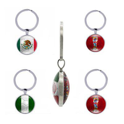 Creative Mexico Nigeria Flag Design Keychain 1pc creative handcuffs style keychain silver