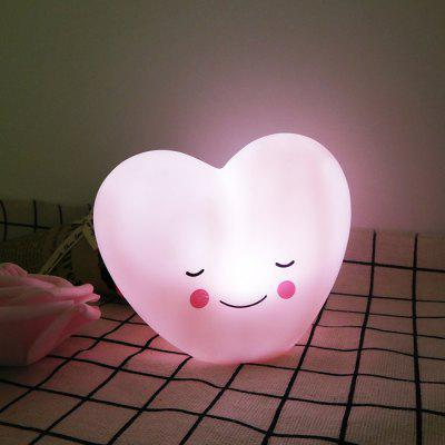 Lovely Heart Shape Night Light Battery Powered