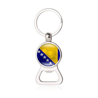 Belgia Germany Flag Design 2-in-1 Bottle Opener Keychain