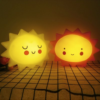 Cute Sun Shape Night Light for Home Decoration