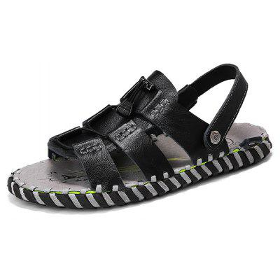 Men Stylish Street Dual-use Leather Sandals