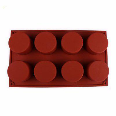 DIY 8-hole Cylinder Design Cake Mold