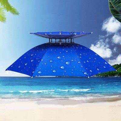 Outdoor Parasol Hat Umbrella Cap for Traveling Fishing