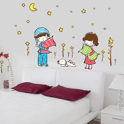 Couple Pattern Design Sticker geometric pattern door sticker