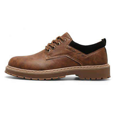 Z6 Men Retro British Style Anti-slip PUCasual Shoes british style oxford shoes women spring soft leather oxfords heel casual shoes lace up womens shoes retro brogues