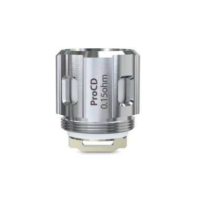 Joyetech ProCD - 0.15 ohm DLHead 5pcsAccessories<br>Joyetech ProCD - 0.15 ohm DLHead 5pcs<br><br>Brand: Joyetech<br>Material: Kanthal<br>Package Contents: 5 x Coil<br>Package size (L x W x H): 10.00 x 3.00 x 3.00 cm / 3.94 x 1.18 x 1.18 inches<br>Package weight: 0.0500 kg<br>Product size (L x W x H): 1.85 x 1.45 x 1.45 cm / 0.73 x 0.57 x 0.57 inches<br>Product weight: 0.0100 kg
