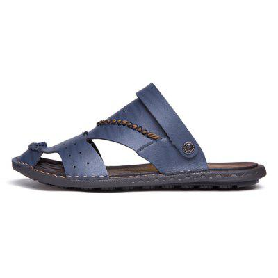Men Leisure Outdoor Dual-use Microfiber Leather SandalsMens Sandals<br>Men Leisure Outdoor Dual-use Microfiber Leather Sandals<br><br>Contents: 1 x Pair of Shoes, 1 x Box<br>Function: Slip Resistant<br>Materials: Rubber, Microfiber Leather<br>Occasion: Shopping, Holiday, Daily, Casual, Beach<br>Outsole Material: Rubber<br>Package Size ( L x W x H ): 32.00 x 21.00 x 13.00 cm / 12.6 x 8.27 x 5.12 inches<br>Package weight: 0.8000 kg<br>Product weight: 0.6500 kg<br>Seasons: Summer<br>Style: Leisure, Fashion, Comfortable<br>Type: Sandals<br>Upper Material: Microfiber Leather