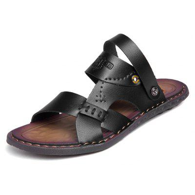 Men Stylish Hollow-out Dual-use Microfiber Leather SandalsMens Sandals<br>Men Stylish Hollow-out Dual-use Microfiber Leather Sandals<br><br>Contents: 1 x Pair of Shoes, 1 x Box<br>Function: Slip Resistant<br>Materials: Rubber, Microfiber Leather<br>Occasion: Shopping, Holiday, Daily, Casual, Beach<br>Outsole Material: Rubber<br>Package Size ( L x W x H ): 32.00 x 21.00 x 13.00 cm / 12.6 x 8.27 x 5.12 inches<br>Package weight: 0.8000 kg<br>Product weight: 0.6500 kg<br>Seasons: Summer<br>Style: Leisure, Fashion, Comfortable<br>Type: Sandals<br>Upper Material: Microfiber Leather