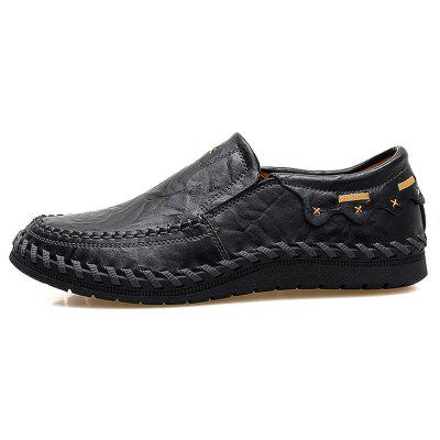 Men Trendy Handcrafted Slip-On Leather Casual Shoes dekesen new graffiti trendy sneakers shoes for men 100