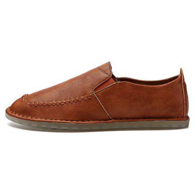 Men Retro Slip-on Microfiber Leather Casual ShoesCasual Shoes<br>Men Retro Slip-on Microfiber Leather Casual Shoes<br><br>Closure Type: Slip-On<br>Contents: 1 x Pair of Shoes, 1 x Box<br>Function: Slip Resistant<br>Materials: Microfiber Leather, Rubber<br>Occasion: Daily, Formal, Holiday, Casual, Shopping<br>Outsole Material: Rubber<br>Package Size ( L x W x H ): 32.00 x 21.00 x 13.00 cm / 12.6 x 8.27 x 5.12 inches<br>Package weight: 0.8000 kg<br>Pattern Type: Solid<br>Product weight: 0.6500 kg<br>Seasons: Autumn,Spring,Summer<br>Style: Leisure, Fashion, Comfortable<br>Toe Shape: Round Toe<br>Type: Casual Shoes<br>Upper Material: Microfiber Leather