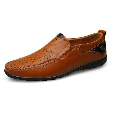 Men Leisure BreathableSlip-on Leather Oxford Shoes