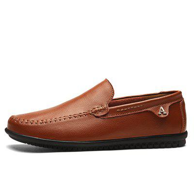 Plus Size Leisure Leather Slip on Loafer for Men