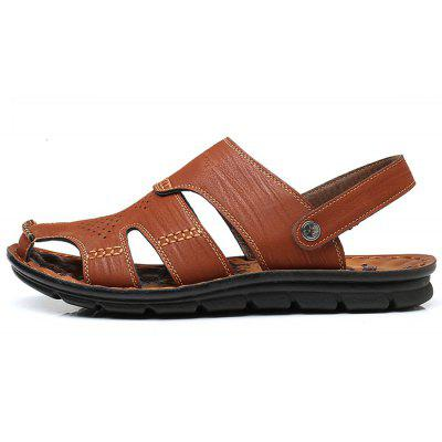 Men Stylish Hollow-out HandcraftedDual-use SandalsMens Sandals<br>Men Stylish Hollow-out HandcraftedDual-use Sandals<br><br>Contents: 1 x Pair of Shoes, 1 x Box<br>Function: Slip Resistant<br>Materials: Rubber, Microfiber Leather<br>Occasion: Shopping, Holiday, Daily, Casual, Beach<br>Outsole Material: Rubber<br>Package Size ( L x W x H ): 30.00 x 20.00 x 10.00 cm / 11.81 x 7.87 x 3.94 inches<br>Package weight: 0.8500 kg<br>Product weight: 0.7000 kg<br>Seasons: Summer<br>Style: Fashion, Comfortable, Casual<br>Type: Sandals<br>Upper Material: Microfiber Leather