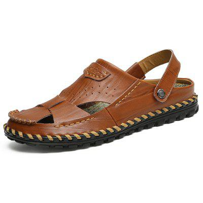 Men Leisure Dual-use Handcrafted Leather Sandals