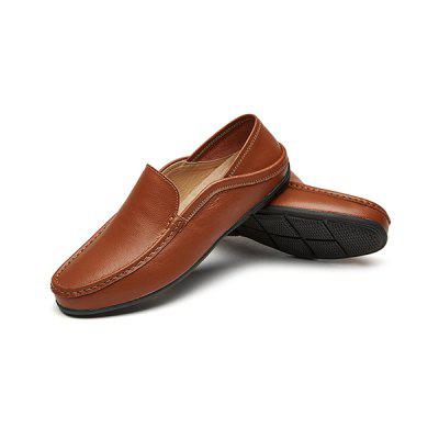 Male Leisure Casual Anti-slip Leather ShoesFlats &amp; Loafers<br>Male Leisure Casual Anti-slip Leather Shoes<br><br>Closure Type: Slip-On<br>Contents: 1 x Pair of Shoes, 1 x Box<br>Materials: Rubber, Leather<br>Occasion: Casual, Daily, Office, Shopping<br>Outsole Material: Rubber<br>Package Size ( L x W x H ): 33.00 x 22.00 x 11.00 cm / 12.99 x 8.66 x 4.33 inches<br>Package weight: 0.8000 kg<br>Product weight: 0.6500 kg<br>Toe Shape: Round Toe<br>Type: Casual Leather Shoes<br>Upper Material: Leather