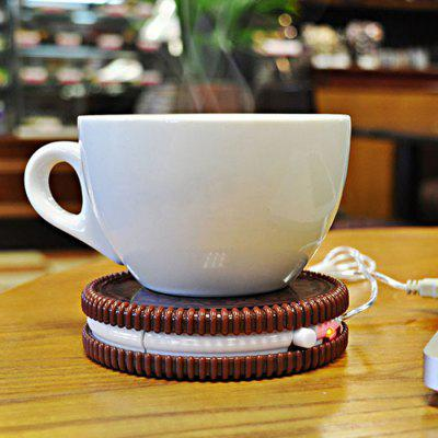 Cookie Shaped USB Heating Warmer Cup Mat
