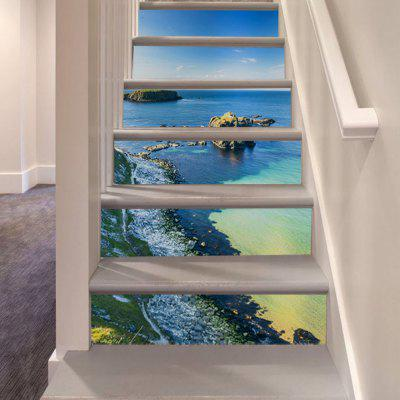 LT013 DIY 3D Seascape Stair Sticker Staircase Decal Set