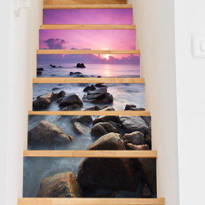LT009 DIY 3D Sea View Stair Sticker Staircase Decal Set