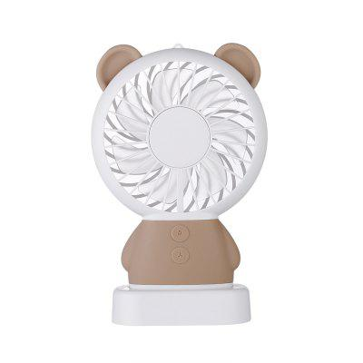 USB LED Portable Fan Bear Shaped