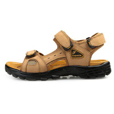 Men Casual Magical Tape SandalsMens Sandals<br>Men Casual Magical Tape Sandals<br><br>Contents: 1 x Pair of Shoes, 1 x Box<br>Function: Slip Resistant<br>Materials: Leather, Rubber<br>Outsole Material: Rubber<br>Package Size ( L x W x H ): 32.00 x 21.00 x 13.00 cm / 12.6 x 8.27 x 5.12 inches<br>Package weight: 0.9000 kg<br>Product weight: 0.7500 kg<br>Seasons: Summer<br>Style: Comfortable, Casual<br>Type: Sandals