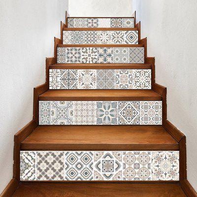 LT024 PVC Stair Sticker Set Tile Style Mural Decals